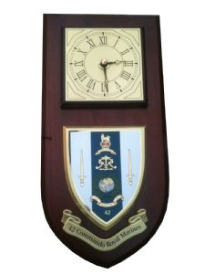 42 Commando Royal Marines Regimental Wall Plaque Clock